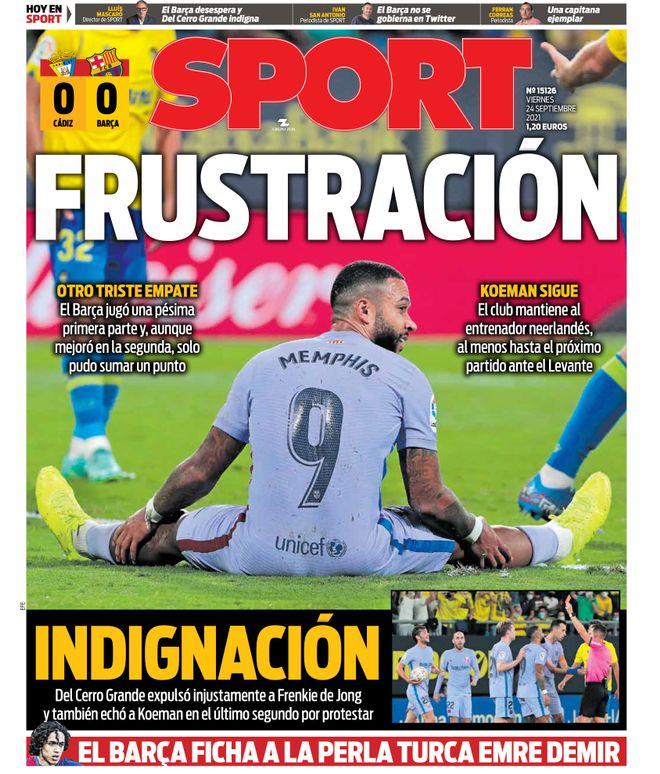 Diario Sport 24.9.2021 | Últimas Noticias Futbol Mundial