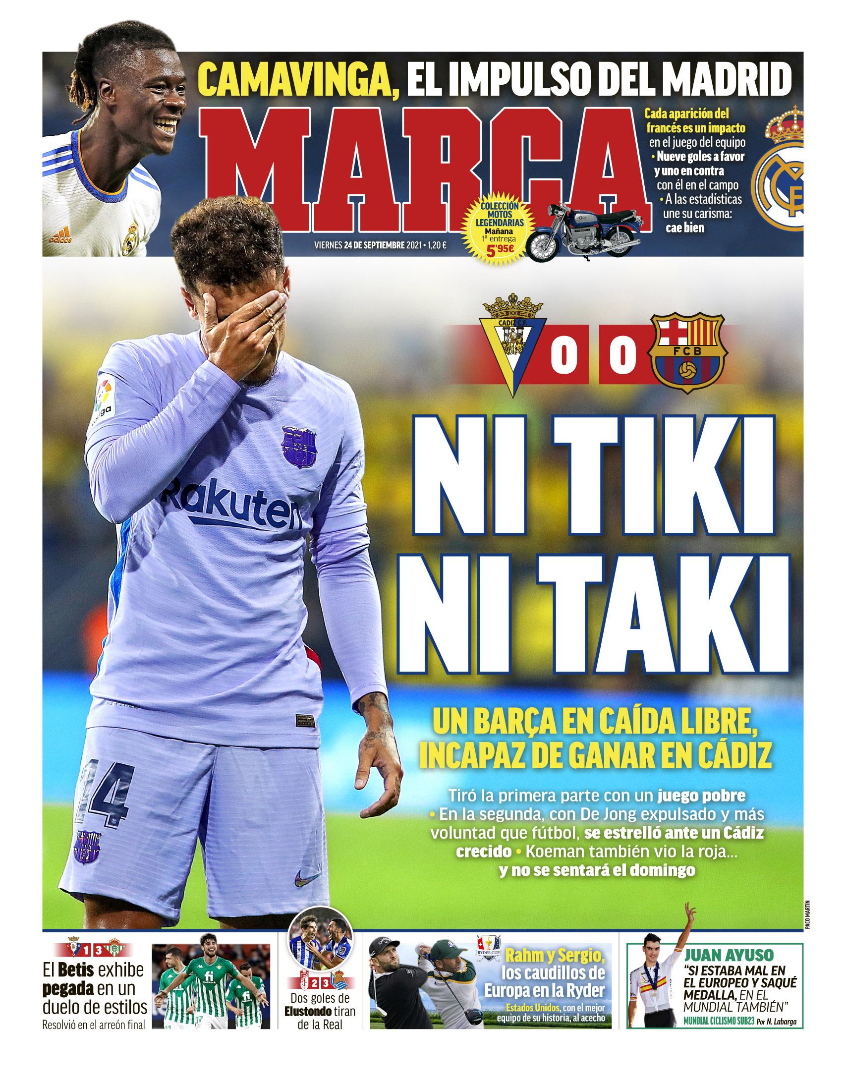 Marca 24.9.2021 | Últimas Noticias Futbol Mundial