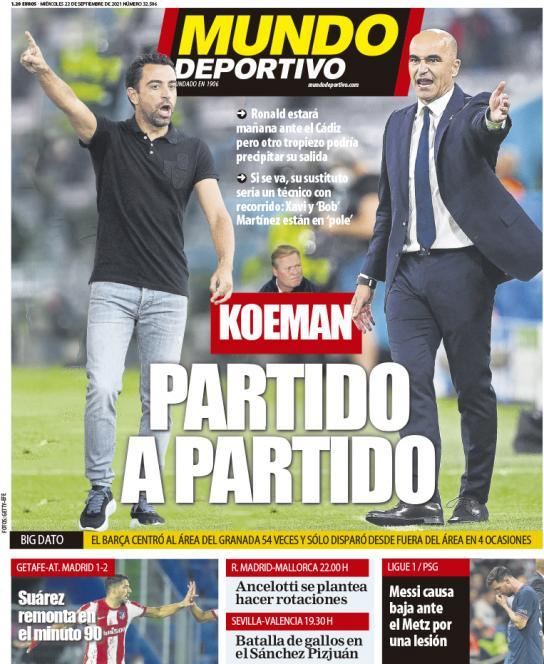 Mundo Deportivo 21.9.2021 | Últimas Noticias Futbol Mundial