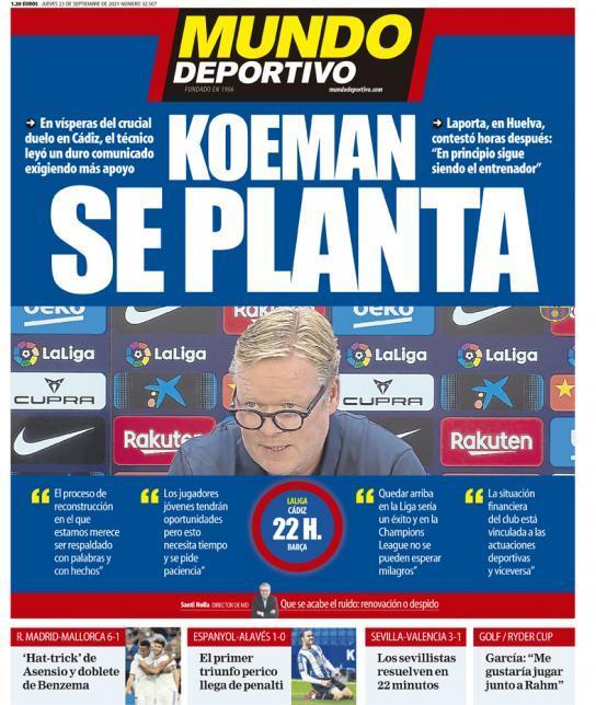 Mundo Deportivo 23.9.2021 | Últimas Noticias Futbol Mundial