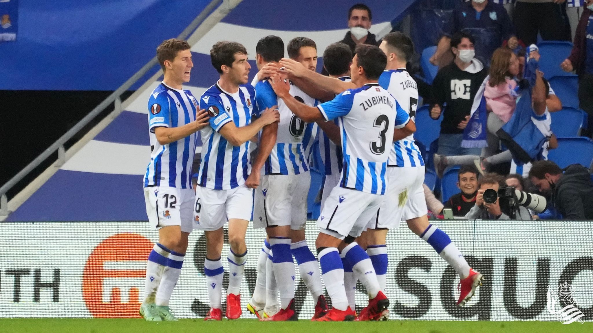 Real Sociedad draw 1-1 with Monaco at the Reale Arena in the Europa League