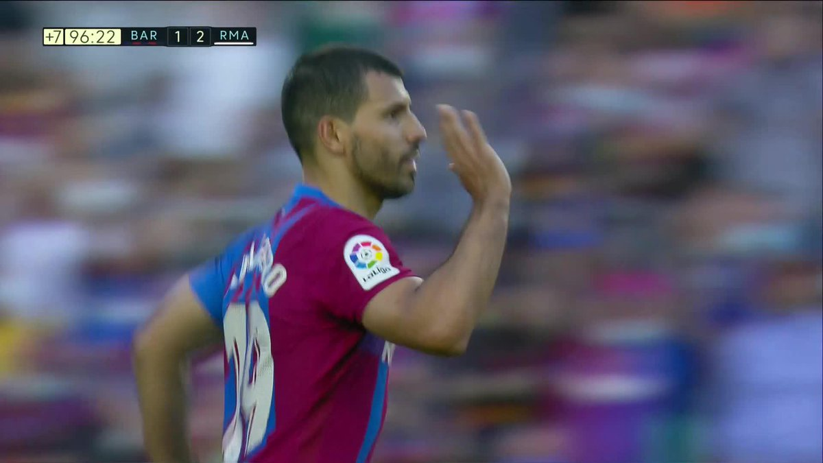 Watch: Sergio Aguero scores his first goal for Barcelona in El Clasico against Real Madrid